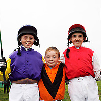 Keith Donoghue, Michael Brady and Martin Harley get ready for the next race at the Lisdoonvarna races over the weekend.<br />