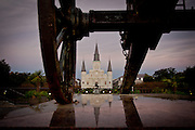 This is the St. Louis Cathedral in the French Quarter of New Orleans. ©Kathy Anderson, All Rights Reserved
