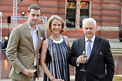 Joe Phelan, Diana Quasha and Norman Lamont at the V&A Summer Party 2017 held at the Victoria & Albert Museum, London England. 21 June 2017.