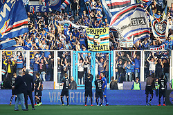 "March 3, 2019 - Ferrara, Ferrara, Italia - Foto LaPresse/Filippo Rubin.03/03/2019 Ferrara (Italia).Sport Calcio.Spal - Sampdoria - Campionato di calcio Serie A 2018/2019 - Stadio ""Paolo Mazza"".Nella foto: LA SAMPDORIA ESULTA SOTTO I PROPRI TIFOSI..Photo LaPresse/Filippo Rubin.March 03, 2019 Ferrara (Italy).Sport Soccer.Spal vs Sampdoria - Italian Football Championship League A 2018/2019 - ""Paolo Mazza"" Stadium .In the pic: SAMPDORIA CELEBRATE (Credit Image: © Filippo Rubin/Lapresse via ZUMA Press)"