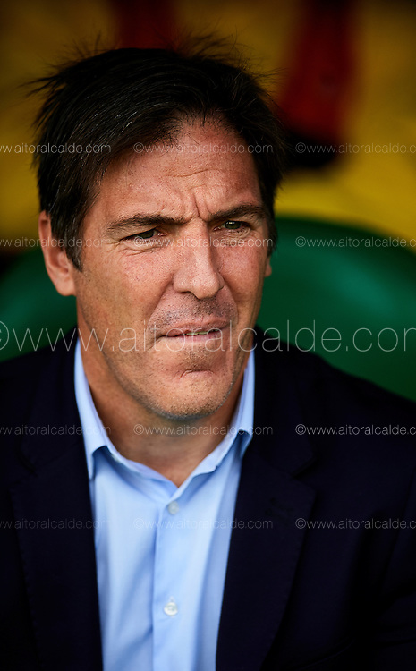 SEVILLE, SPAIN - DECEMBER 04:  Head Coach of RC Celta de Vigo Eduardo Berizzo looks on during La Liga match between Real Betis Balompie an RC Celta de Vigo at Benito Villamarin Stadium on December 4, 2016 in Seville, Spain.  (Photo by Aitor Alcalde Colomer/Getty Images)