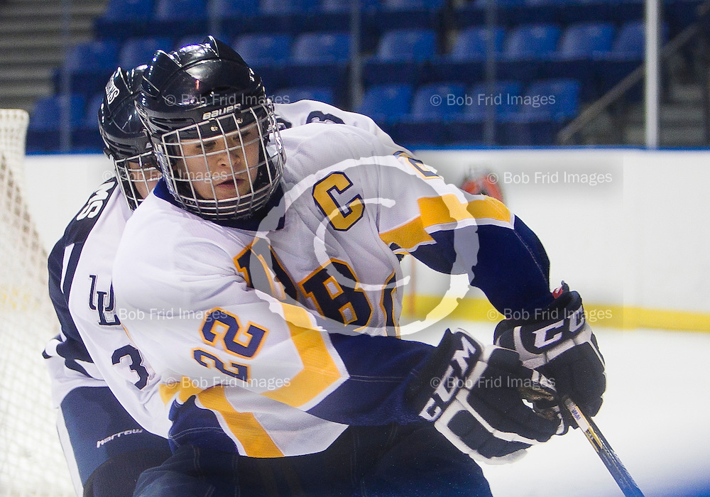 15 October 2011:  Action during a women's ice hockey game between the University of British Columbia Thunderbirds and the Lethbridge Pronghorns at Doug Mitchell Arena, University of British Columbia, Vancouver, BC, Canada.   ****(Photo by Bob Frid/UBC Athletics) 2011 All Rights Reserved****
