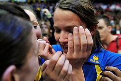 21-04-2012 KORFBAL: KZ HILTEX - PKC HAGERO: ROTTERDAM<br /> KZ wint de Ahoy finale met 20-19 van PKC - Marjolein Kroon<br /> ©2012-FotoHoogendoorn.nl