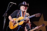 Legendary country singer Willie Nelson performing live at the Pageant in St. Louis on March 11, 2010.