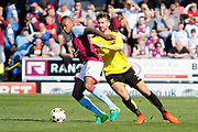 Aston Villa midfielder Leandro Bacuna (7) battles for possession with Burton Albion midfielder Luke Murphy (30) during the EFL Sky Bet Championship match between Burton Albion and Aston Villa at the Pirelli Stadium, Burton upon Trent, England on 8 April 2017. Photo by Richard Holmes.