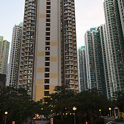 Tung Chung city is part of Hong Kong and is a giant cluster of tall tower blocks. 7 million people live on 1,104km square, making it Hong Kong the most vertical city in the world.