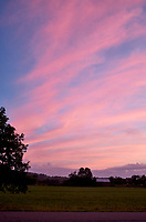 Pastel Sky at Dawn. 2 of 13 Images taken with a Leica X2 camera and 24 mm f/2.8 lens (ISO 125, 24 mm, f/2.8, 1/30 sec). Raw images processed with Capture One Pro and the panorama generated using AutoPano Giga Pro.