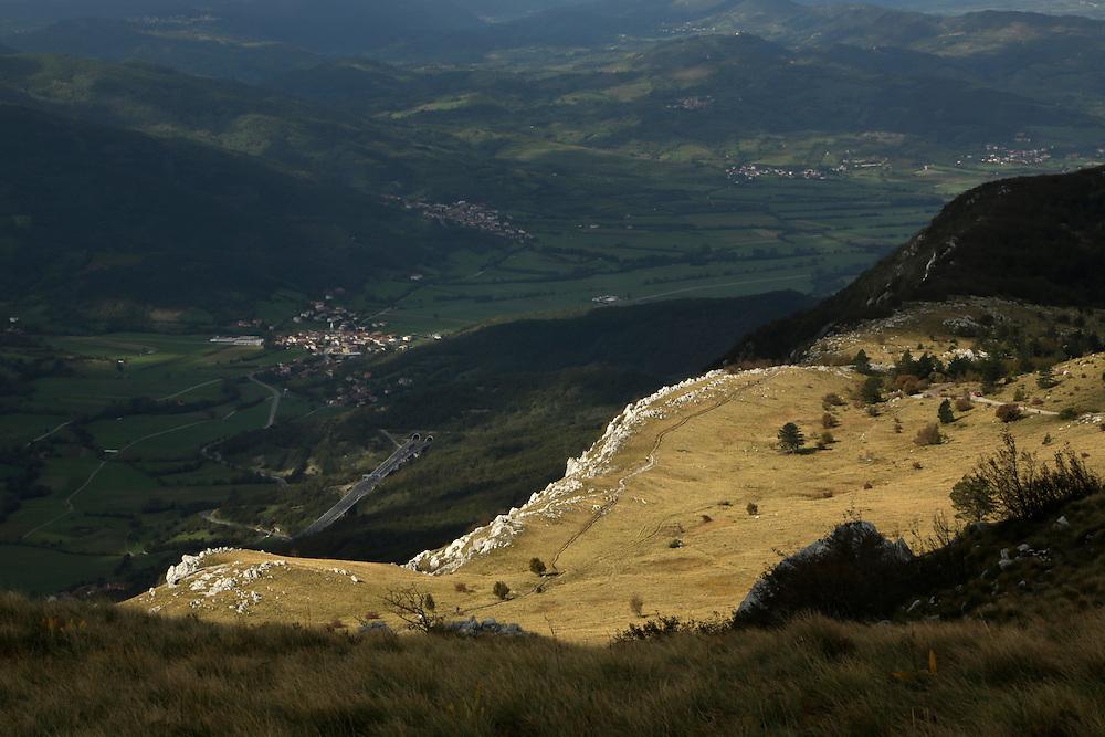 View from Nanos mountain, Slovenia.