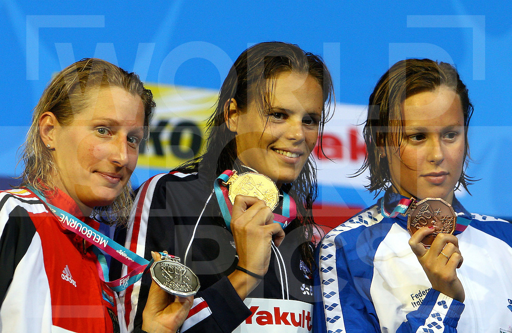 12th Fina World Swimming Championships Melbourne, 2007, 28thy March. Laure Manaudou of France wins gold in the 200m Freestyle Final...fotografie: frank uijlenbroek©2007Grant Treeby ..