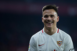 January 16, 2019 - Sevilla, Andalucia, Spain - Roque Mesa of Sevilla FC smile during the Copa del Rey match between Sevilla FC v Athletic Club at the Ramon Sanchez Pizjuan Stadium on January 16, 2019 in Sevilla, Spain (Photo by Javier Montaño/Pacific Press) (Credit Image: © Javier MontañO/Pacific Press via ZUMA Wire)