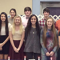 HEBRON HONOR STUDENTS<br /> (Courtesy Photo)<br /> Hebron Christian School recently named new members to the MAIS Honor Society. They are, front row, from left, Sarah Davenport, Shelbie Brown, Eliana Carter, Grace Smith, Holly Hudson, Savannah Shinn, Adrianna Fulgham and Jessie Moore. Back row from left are Mary Carrington Smith, Marlee Jones, Millie Hudson, Payton Griffin, Clay Faulkner and Channing Tapley.
