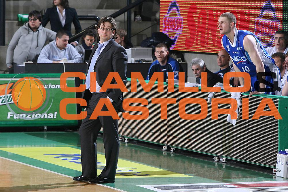 DESCRIZIONE : Treviso Lega A 2009-10 Basket Benetton Treviso NGC Medical Cantu<br /> GIOCATORE : Andrea Trinchieri Coach<br /> SQUADRA : NGC Medical Cantu<br /> EVENTO : Campionato Lega A 2009-2010<br /> GARA : Benetton Treviso NGC Medical Cantu<br /> DATA : 30/01/2010<br /> CATEGORIA : Ritratto<br /> SPORT : Pallacanestro<br /> AUTORE : Agenzia Ciamillo-Castoria/G.Contessa<br /> Galleria : Lega Basket A 2009-2010 <br /> Fotonotizia : Treviso Campionato Italiano Lega A 2009-2010 Benetton Treviso NGC Medical Cantu<br /> Predefinita :