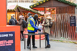 DAILY MAIL: As part of anti-terror precautions visitors are subject to bag searches at the Leicester Square Christmas Market in central London. London, November 16 2018.