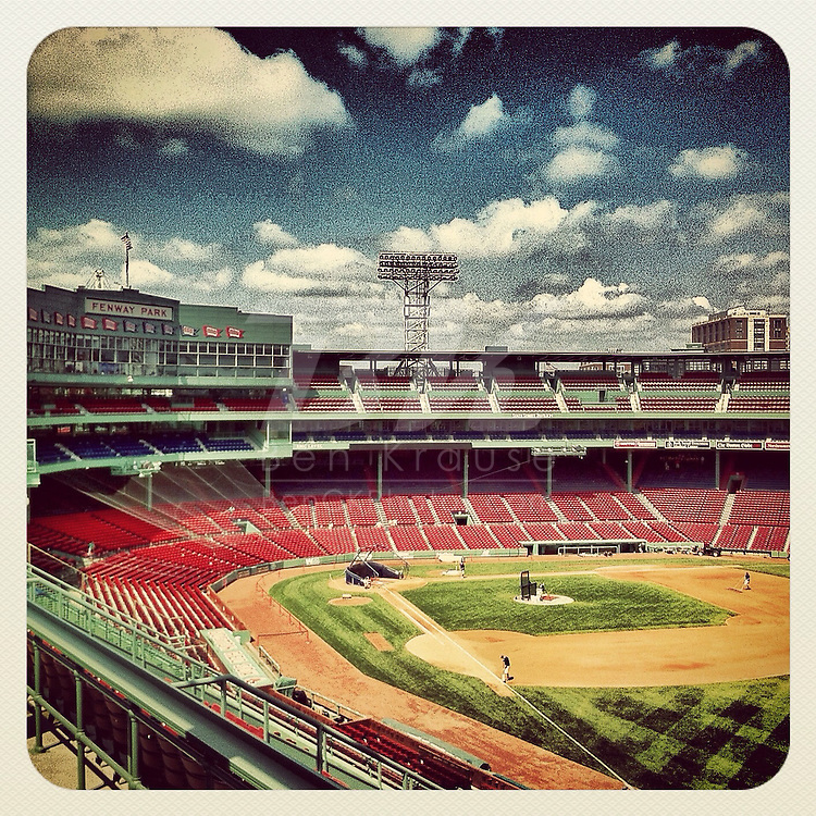 An Instagram of Fenway Park in Boston, Massachusettes.