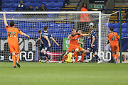 Christophe Berra, Ipswich Town defender scores the second goal to make it 2-0 during the Sky Bet Championship match between Bolton Wanderers and Ipswich Town at the Macron Stadium, Bolton, England on 8 March 2016. Photo by Simon Brady.