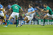 Santiago Cordero of Argentina during the Rugby World Cup Quarter Final match between Ireland and Argentina at Millennium Stadium, Cardiff, Wales on 18 October 2015. Photo by Shane Healey.