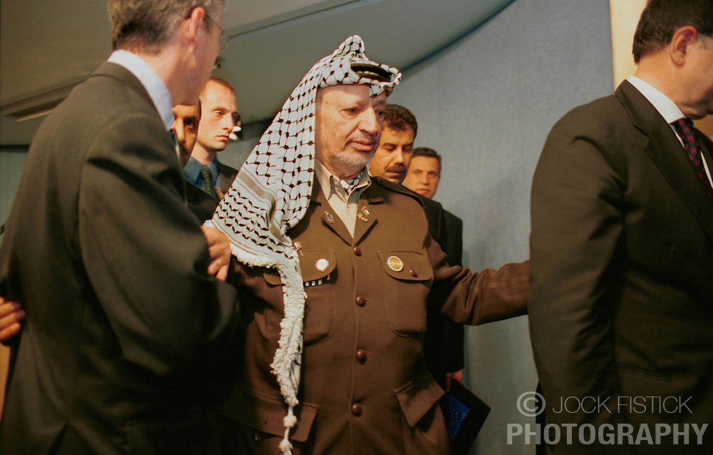 BRUSSELS, BELGIUM - MAY 31, 2001 - Yasser Arafat, leader of the PLO, visited the European Commission, in Brussels, Thursday. (PHOTO © JOCK FISTICK)