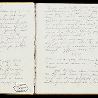 Two pages of Eva Braun's 1935 diary, ofund among her belongings after World War II and now housed in the U.S. National Archives