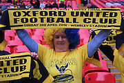 Oxford fans before the Johnstone's Paint Trophy Final between Barnsley and Oxford United at Wembley Stadium, London, England on 3 April 2016. Photo by Mark P Doherty.