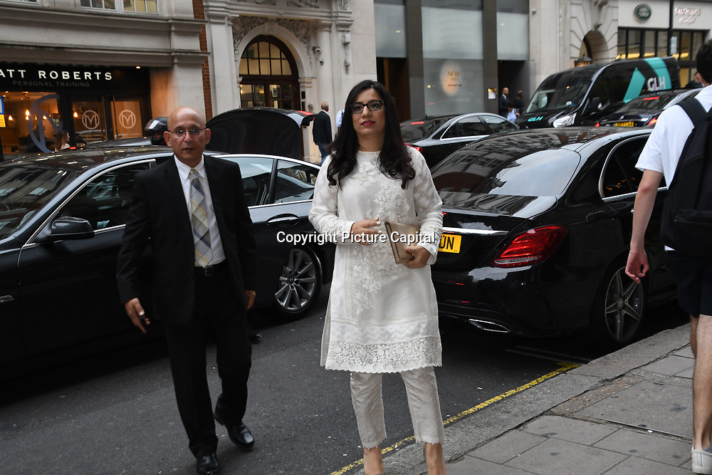 """Producter attend Photocall in London Premiere of """"Parwaaz Hai Junoon"""" (Soaring Passion) as featured on SKY, ITV at The May Fair Hotel, Stratton Street, London, UK. 22 August 2018."""