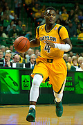 WACO, TX - JANUARY 11: Gary Franklin #4 of the Baylor Bears brings the ball up court against the TCU Horned Frogs on January 11, 2014 at the Ferrell Center in Waco, Texas.  (Photo by Cooper Neill/Getty Images) *** Local Caption *** Gary Franklin