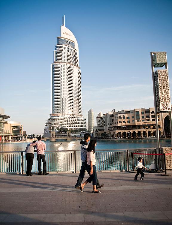 Dubai Mall, in front of The Adress, Dubai, UAE on Friday, February 12, 2010.