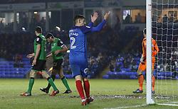 Liam Shephard of Peterborough United rallies the fans during the second-half - Mandatory by-line: Joe Dent/JMP - 13/02/2018 - FOOTBALL - ABAX Stadium - Peterborough, England - Peterborough United v Scunthorpe United - Sky Bet League One
