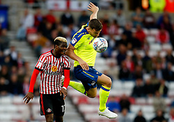 Didier Ndong of Sunderland and Chris Martin of Derby County - Mandatory by-line: Matt McNulty/JMP - 04/08/2017 - FOOTBALL - Stadium of Light - Sunderland, England - Sunderland v Derby County - Sky Bet Championship