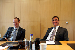 UK ENGLAND LONDON 27SEP10 - Paul Govier (L) and Henry Smith of Maples and Calder law firm during interview with SPIEGEL reporte Uwe Buse at the firm's offices in the city of London...jre/Photo by Jiri Rezac..© Jiri Rezac 2010