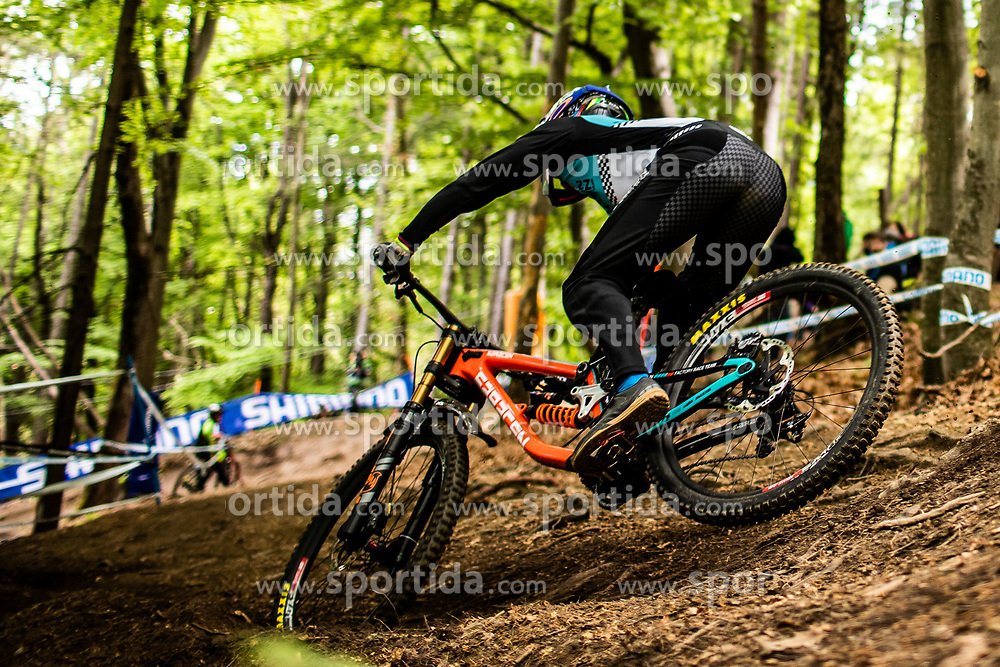 Danny Hart of Great Britain during Mercedes-Benz UCI Mountain Bike World Cup competition final day in Bike Park Pohorje, Maribor on 28th of April, 2019, Slovenia.  . Photo by Grega Valancic / Sportida