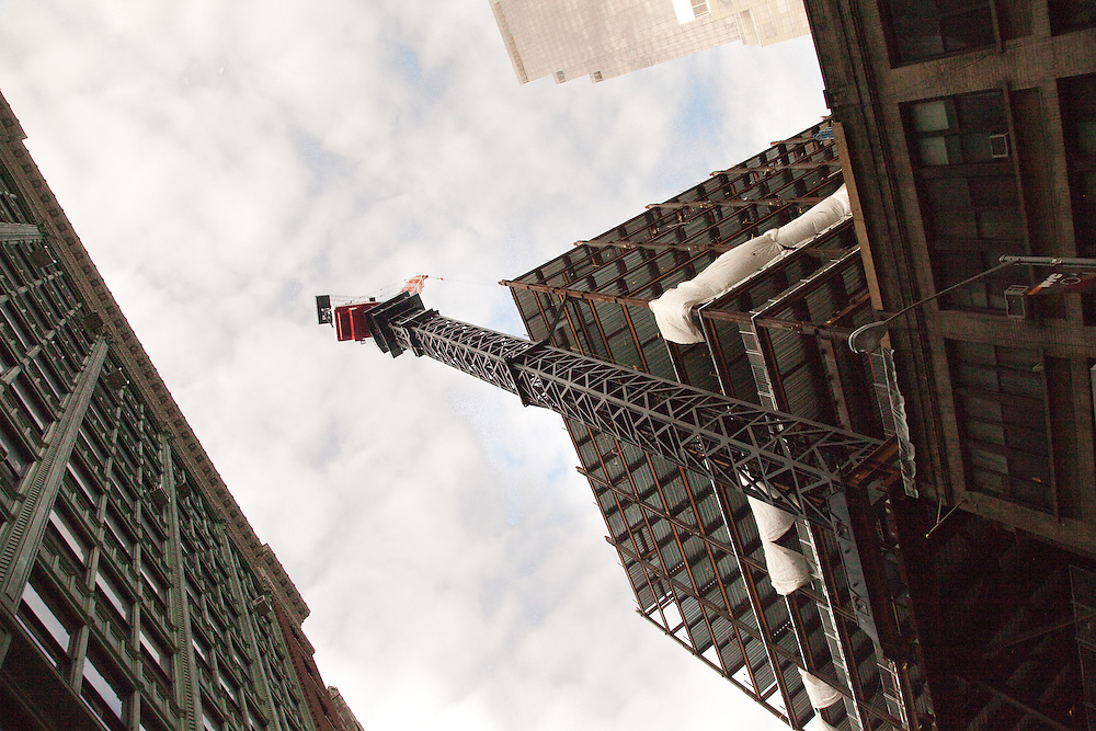 Skyscraper skeleton rises<br /> <br /> January 4th, 2012