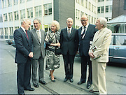 24/08/1984<br /> 08/24/1984<br /> 24 August 1984<br /> Opening of ROSC '84 at the Guinness Store House, Dublin. At the event were (l-r): Brian Slowey,  Managing Director, Guinness,Ireland; Mr Pat Murphy ROSC Chairman; Mrs Maeve Hillery; President Patrick Hillery,; Lord Iveagh and Michael Scott.