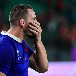 Disappointment for Louis PICAMOLES of France after his side loses the Rugby World Cup 2019 Quarter Final match between Wales and France on October 20, 2019 in Oita, Japan. (Photo by Dave Winter/Icon Sport) - Oita Stadium - Oita (Japon)