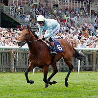 Sir John Hawkwood and Richard Hughes winning the 2.25 race