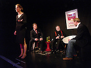 Kinvara Balfour, Bill Hurst, Julian Bird and Joss Ings-Chambers, Dazed and Abused by Kinvara Balfour, the Canal Cafe theatre. London W2. 4 October 2004. ONE TIME USE ONLY - DO NOT ARCHIVE  © Copyright Photograph by Dafydd Jones 66 Stockwell Park Rd. London SW9 0DA Tel 020 7733 0108 www.dafjones.com