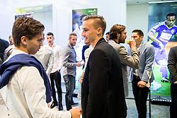 Luka Zahovic and Grega Sorcan during SPINS XI Nogometna Gala 2017 event when presented best football players of Prva liga Telekom Slovenije in season 2016/17, on May 23, 2017 in Grand hotel Union, Ljubljana, Slovenia. Photo by Vid Ponikvar / Sportida