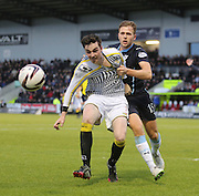 Dundee's Greg Stewart gets to grips with St Mirren's Sean Kelly -  St Mirren v Dundee, SPFL Premiership at St Mirren Park <br /> <br /> <br />  - &copy; David Young - www.davidyoungphoto.co.uk - email: davidyoungphoto@gmail.com