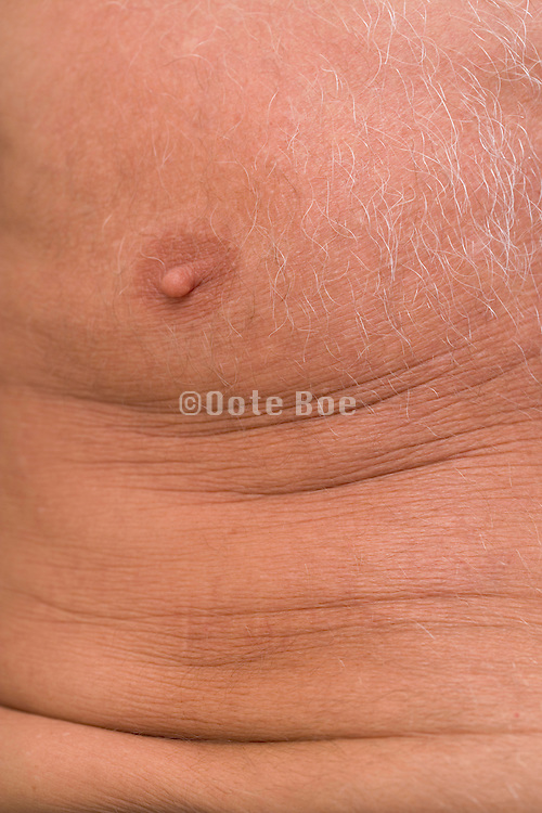 close up of an elderly man's chest