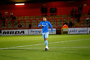 Coventry's defender Jordan Willis warms up during the EFL Sky Bet League 2 match between Stevenage and Coventry City at the Lamex Stadium, Stevenage, England on 21 November 2017. Photo by Matt Bristow.
