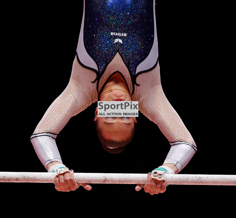 2015 Artistic Gymnastics World Championships being held in Glasgow from 23rd October to 1st November 2015.....Sophie Scheder (Germany) performs on the Uneven Bars on Day 1 of the Women's & Men's Apparatus Final...(c) STEPHEN LAWSON | SportPix.org.uk