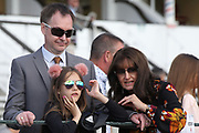A family enjoying the day during the Family Race Day held at York Racecourse, York, United Kingdom on 8 September 2019.