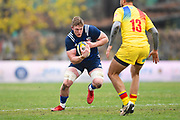 USA player John Quill carries the ball in the first half during the November Test match between Romania and USA at Ghencea Stadium, Bucharest, Romania on 17 November 2018.