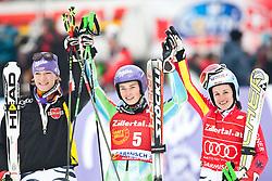 11.03.2010, Kandahar Strecke Damen, Garmisch Partenkirchen, GER, FIS Worldcup Alpin Ski, Garmisch, Lady Giant Slalom, im Bild zweitplazierte Riesch Maria, ( GER, #11 ), Ski Head, erstplazierte Maze Tina, ( SLO, #5 ), Ski Stoeckli und drittplazierte Hoelzl Kathrin, ( GER, #6 ), Ski Fischer, EXPA Pictures © 2010, PhotoCredit: EXPA/ J. Groder /SPORTIDA PHOTO AGENCY