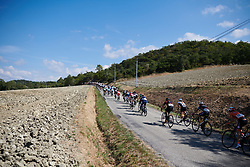 The peloton head into the hills at Tour Cycliste Féminin International de l'Ardèche 2018 - Stage 6, a 113.7km road race from Savasse to Montboucher sur Jabron, France on September 17, 2018. Photo by Sean Robinson/velofocus.com