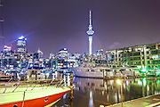 auckland town basin with sky tower on horizon.