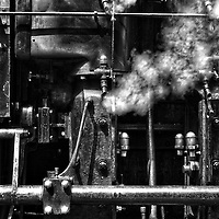 A machine emitting steam