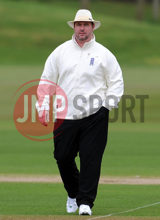 Umpire Ian Blackwell - Photo mandatory by-line: Harry Trump/JMP - Mobile: 07966 386802 - 02/04/15 - SPORT - CRICKET - Pre Season Fixture - Day One - Somerset v Durham MCCU - Taunton Vale Cricket Ground, Somerset, England.