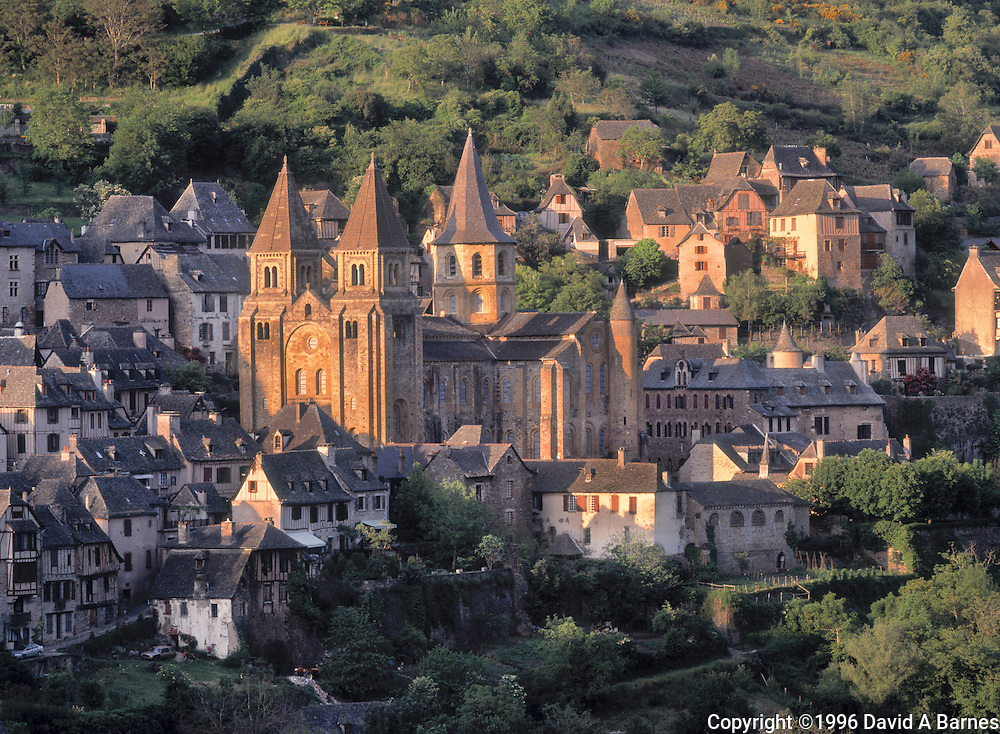 Church of Saint Foy in the medieval town of Conques, Aveyron, France