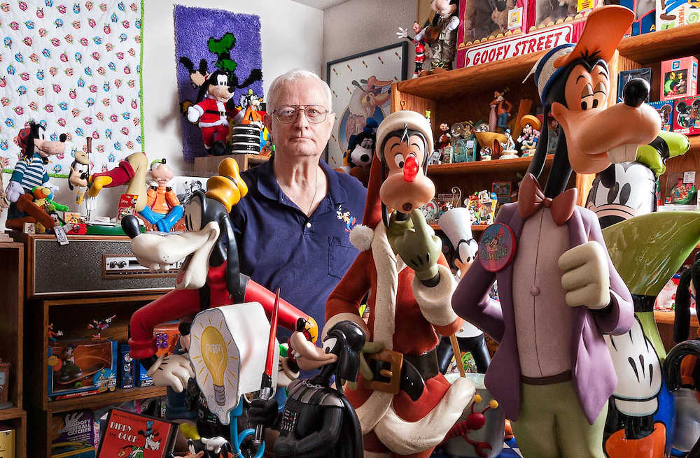 Jim Van Bibber of Austin, Texas has been collecting Goofy memorabilia since the mid-1980s.