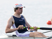 Eton, United Kingdom.  Men's Pair, Bow, Stephen JONES,   Sat. time trial.  2011 GBRowing Trials, Dorney Lake. Saturday  16/04/2011  [Mandatory Credit; Peter Spurrier/Intersport-images] Venue For 2012 Olympic Regatta and Flat Water Canoe events.